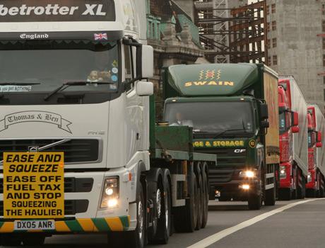 Protest-trucks