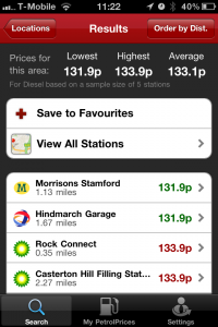 photo2 200x300 Petrol Prices Pro Apple App Review