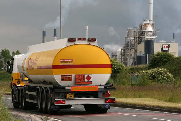 Stanlow Fuel protest