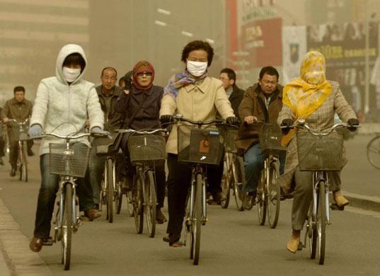 diesel fumes EU smog china