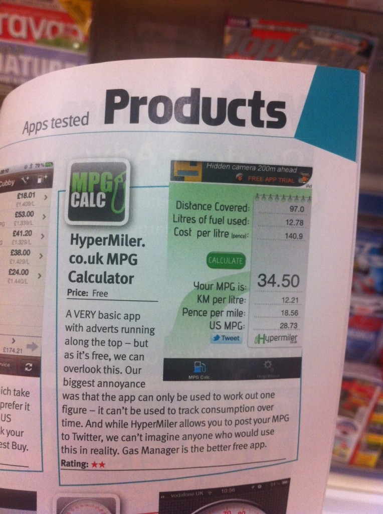 photo 764x1024 Auto Express Hypermiler MPG IOS (Apple) app review