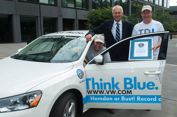 Volkswagen Passat TDI Guinness Record Event