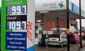 fuel prices harvest energy 1 pound a litre