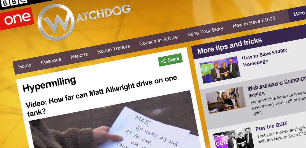 BBC Watchdog Hypermiling fuel saving tips Mark