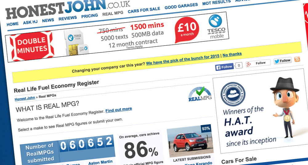 honest john real mpg fuel efficency