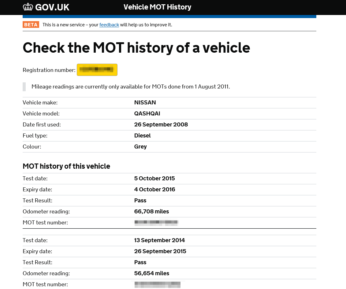 MOT-test-checker-website-government-mileage-history