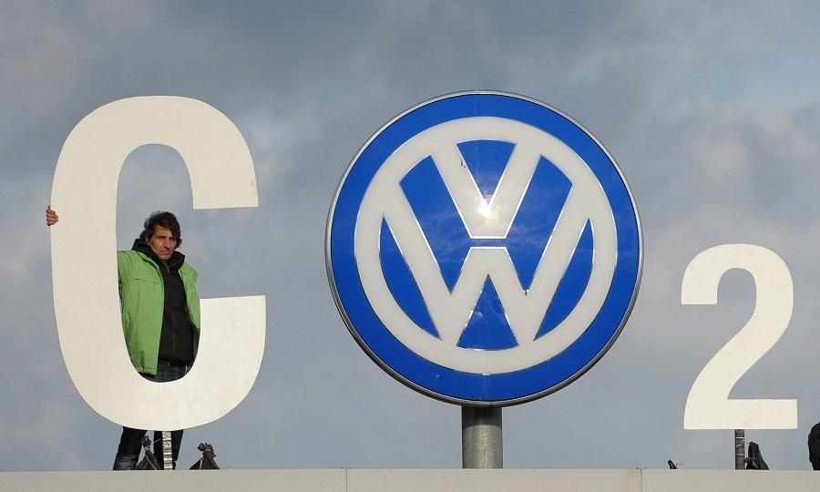 VW CO2 protest diesel gate