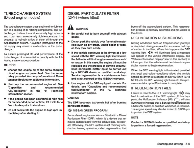 Nissan Juke DCi Diesel DPF Regeneration FAQ | Hypermiling