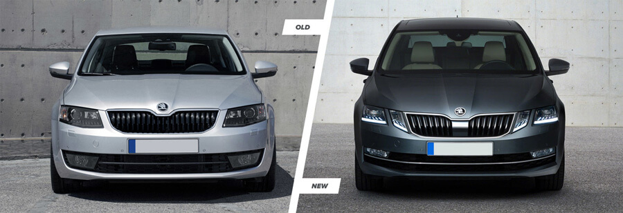 Skoda octavia 2017 side by side comparison