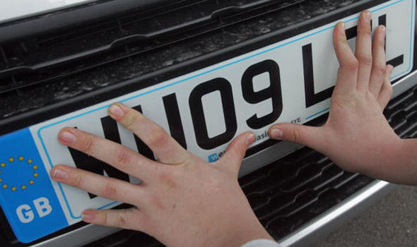 number plate thefts stealing crime