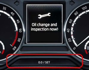How to reset the inspection / service warning on the Skoda