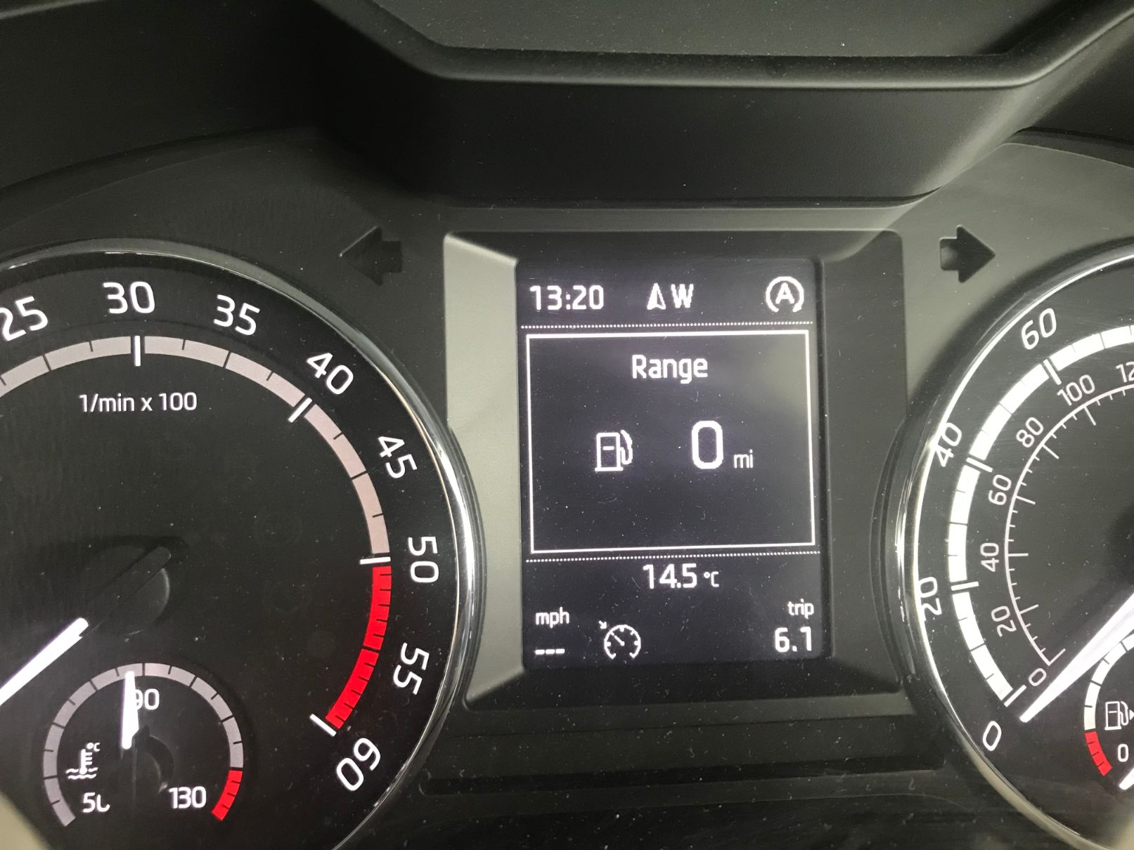 Running on Fumes. Just how much fuel do you have on empty? Skoda Octavia MK3