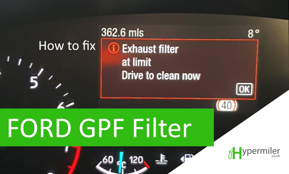 "How to fix ""Exhaust filter limit reached. drive to clean now"" (Ford GPF Filter)"