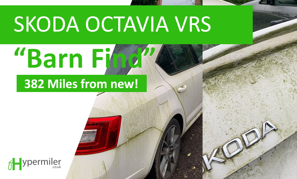 Modern day Skoda Octavia VRS barn find. 6 years, 382 miles and a lot of grime